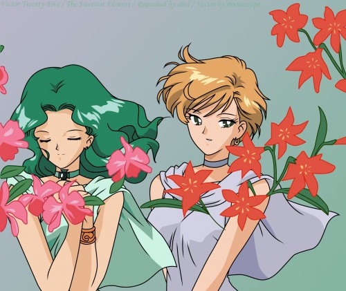 Toei Animation, Bishoujo Senshi Sailor Moon, Princess Neptune, Princess Uranus, Vector Art
