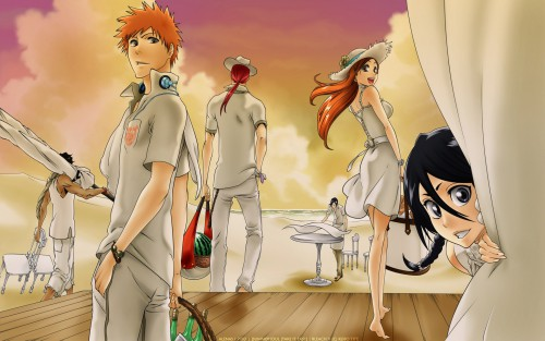 Kubo Tite, Studio Pierrot, Bleach, Rukia Kuchiki, Orihime Inoue Wallpaper