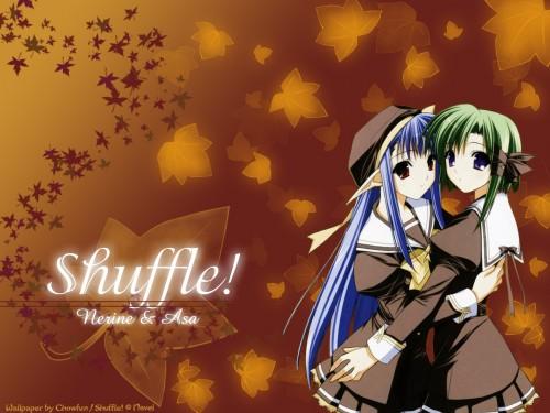 Hiro Suzuhira, Shuffle!, Asa Shigure, Nerine Wallpaper