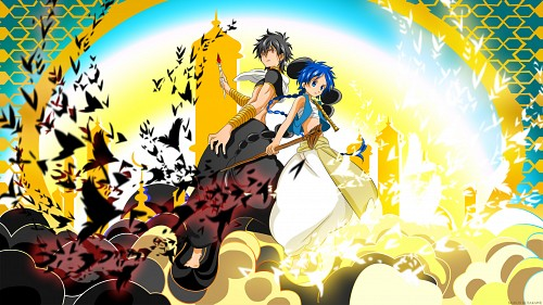 Shinobu Ohtaka, A-1 Pictures, MAGI: The Labyrinth of Magic, Judal (MAGI), Aladdin (MAGI) Wallpaper