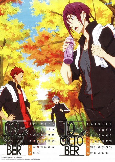 Nobuaki Maruki, Kyoto Animation, Free!, Free! 2014 Calendar, Seijuurou Mikoshiba