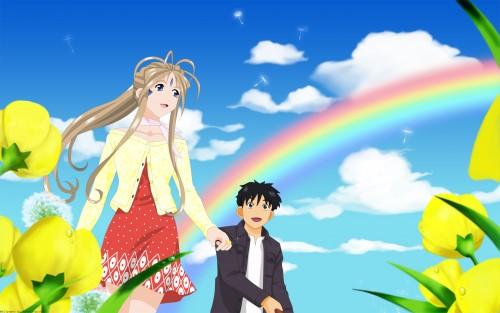 Kousuke Fujishima, Anime International Company, Ah! Megami-sama, Belldandy, Keiichi Morisato Wallpaper