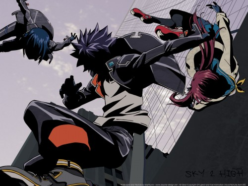Oh! Great, Toei Animation, Air Gear, Ringo Noyamano, Akito Wanijima Wallpaper