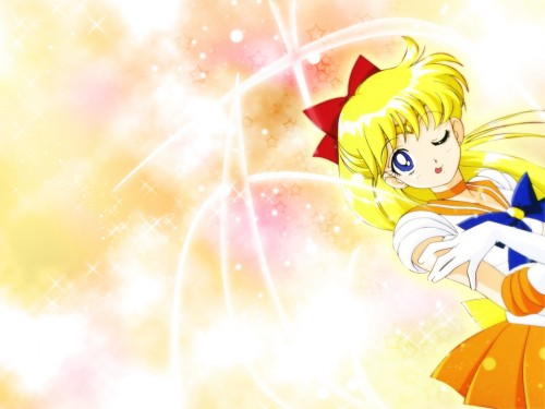 Toei Animation, Bishoujo Senshi Sailor Moon, Sailor Venus Wallpaper