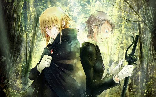 Jun Mochizuki, Xebec, Pandora Hearts, Eliot Nightray, Vincent Nightray Wallpaper