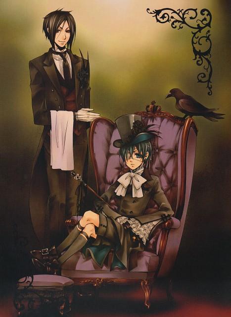 Yana Toboso, Kuroshitsuji, Black Butler Artworks 1, Sebastian Michaelis, Ciel Phantomhive