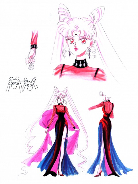 Naoko Takeuchi, Bishoujo Senshi Sailor Moon, BSSM Materials Collection, Black Lady, Character Sheet
