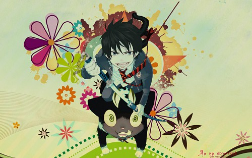 Kazue Katou, A-1 Pictures, Ao no Exorcist, Rin Okumura, Kuro (Ao no Exorcist) Wallpaper
