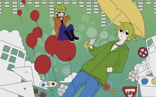 Iruno Satou, Vocaloid, Len Kagamine, 96Neko, Vector Art Wallpaper