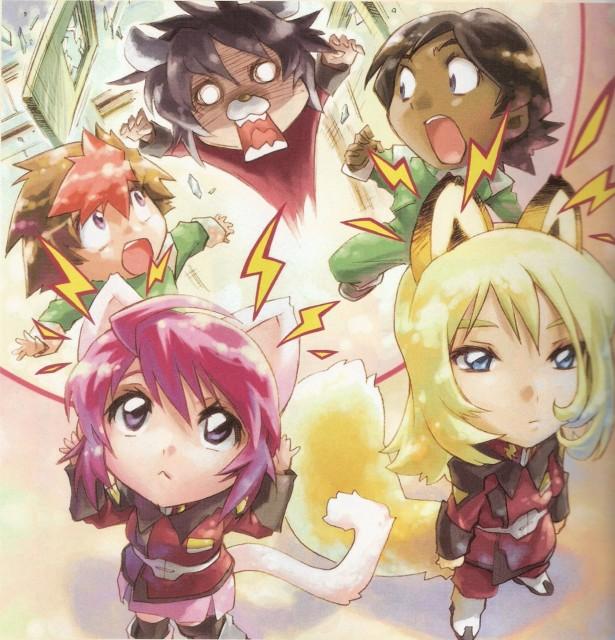 RGB, Mobile Suit Gundam SEED Destiny, Rey Za Burrel, Lunamaria Hawke, Shinn Asuka