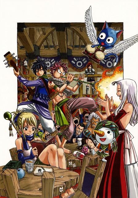 Hiro Mashima, Fairy Tail, Fairy Tail Illustrations: Fantasia, Happy (Fairy Tail), Macao Conbolt