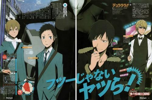 Suzuhito Yasuda, Brains Base, DURARARA!!, Izaya Orihara, Masaomi Kida