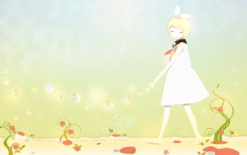 Gaga, Weightlessness Space, Vocaloid, Rin Kagamine, Vector Art Wallpaper