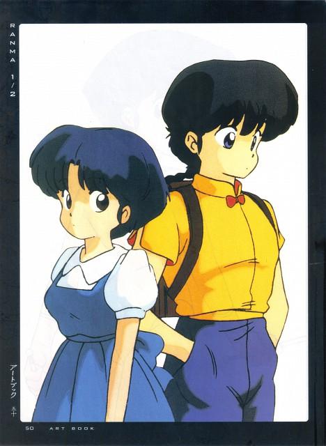 Rumiko Takahashi, Ranma 1/2, Fight - Artbook IV, Ranma Saotome, Akane Tendo