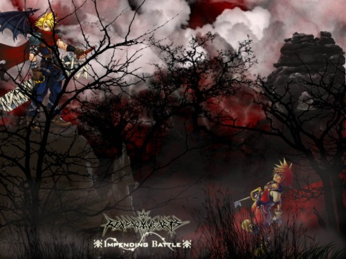 Square Enix, Kingdom Hearts, Sora, Cloud Strife Wallpaper