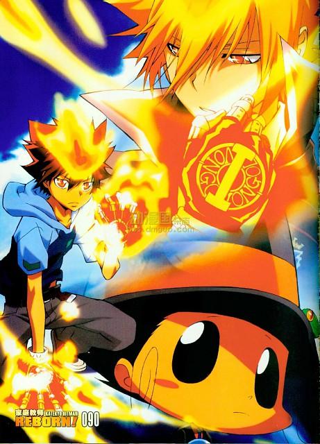 Akira Amano, Katekyo Hitman Reborn!, Leon (Katekyo Hitman Reborn!), Tsunayoshi Sawada, Reborn (Character)