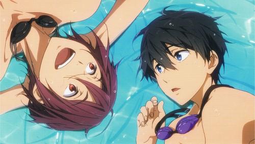 Kyoto Animation, Free!, Rin Matsuoka, Haruka Nanase (Free!), Postcard