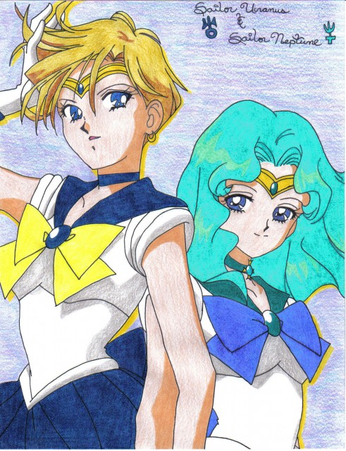 Naoko Takeuchi, Bishoujo Senshi Sailor Moon, Sailor Uranus, Sailor Neptune, Member Art