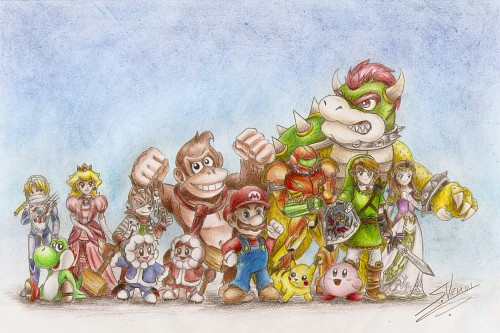 Nintendo, The Legend of Zelda, Super Smash Bros. Brawl, Super Mario, Donkey Kong