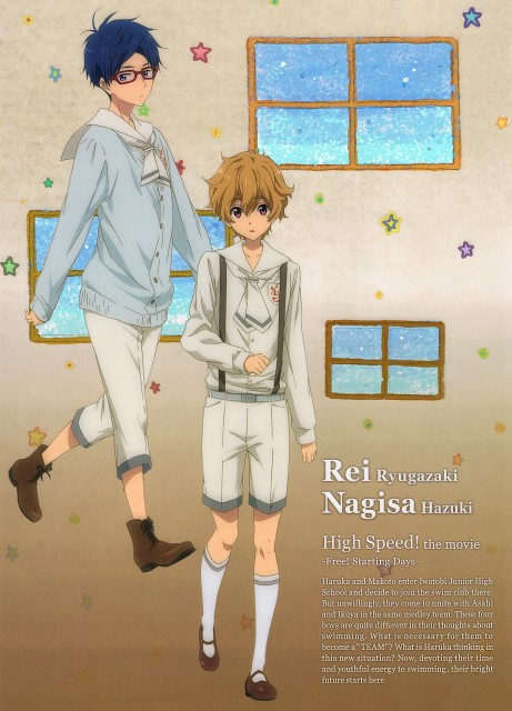 Kyoto Animation, Free!, Rei Ryuugazaki, Nagisa Hazuki, Pencil Board