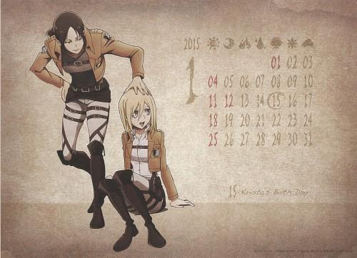 Hajime Isayama, Production I.G, Shingeki no Kyojin, Shingeki no Kyojin School Calendar 2014, Ymir (Shingeki no Kyojin)