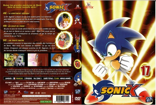 Sega, TMS Entertainment, Sonic the Hedgehog, Sonic, DVD Cover