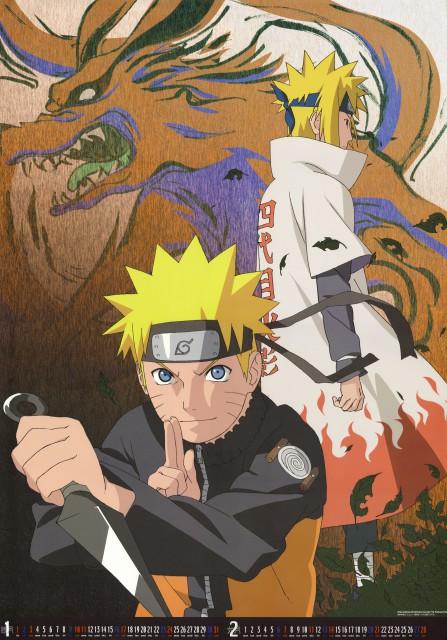 Studio Pierrot, Naruto, Naruto Uzumaki, Minato Namikaze, Calendar