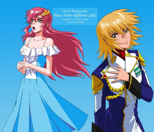 Sunrise (Studio), Mobile Suit Gundam SEED Destiny, Cagalli Yula Athha, Lacus Clyne, Vector Art