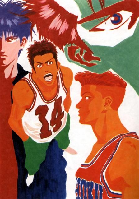 Takehiko Inoue, Slam Dunk, Inoue Takehiko Illustrations, Hanamichi Sakuragi, Kaede Rukawa