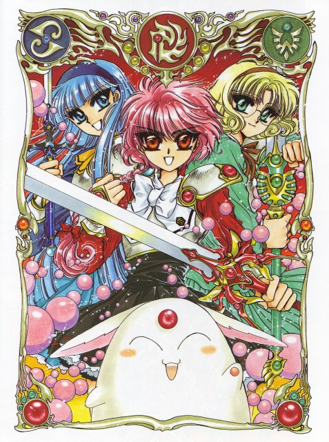 CLAMP, Magic Knight Rayearth, Magic Knight Rayearth Illustrations Collection, Hikaru Shidou, Mokona