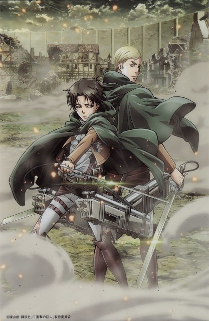 Production I.G, Shingeki no Kyojin, Levi Ackerman, Erwin Smith