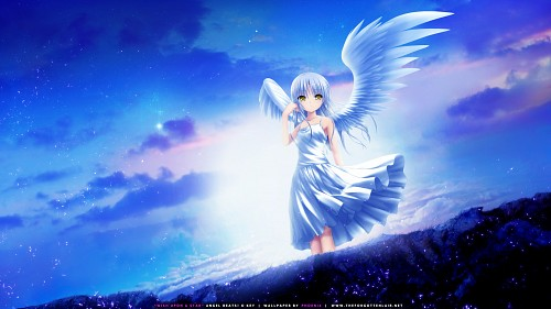 P.A. Works, Key (Studio), Angel Beats!, Kanade Tachibana, Vector Art Wallpaper