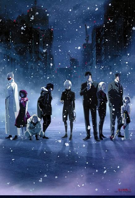 Tokyo Ghoul, Eto (Tokyo Ghoul), Jyuzo Suzuya, Ken Kaneki, Naki (Tokyo Ghoul)