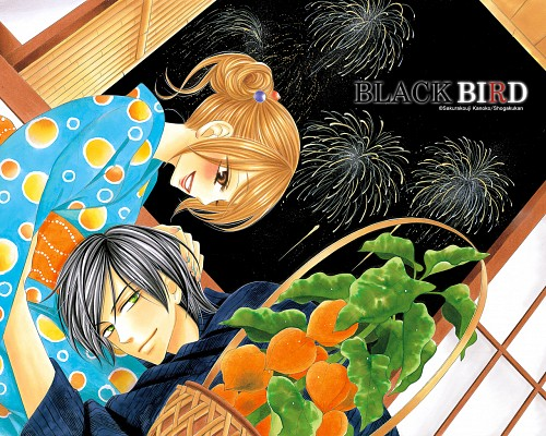 Kanoko Sakurakoji, Black Bird, Misao Harada, Kyo Usui, Official Wallpaper