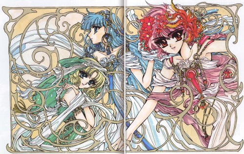 CLAMP, Magic Knight Rayearth, Magic Knight Rayearth 2 Illustrations Collection, Hikaru Shidou, Umi Ryuuzaki