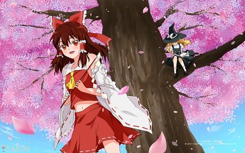 Touhou, Marisa Kirisame, Reimu Hakurei Wallpaper