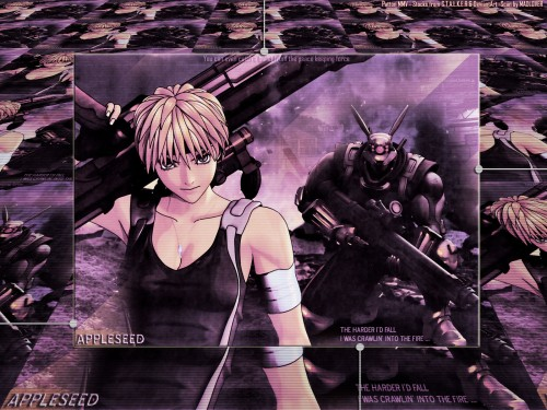 Masamune Shirow, Appleseed, Briareos Hecatonchires, Deunan Knute Wallpaper