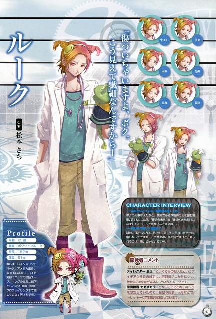 Nagaoka, Idea Factory, Clock Zero Official Visual Fan Book, Clock Zero, Luke (Clock Zero)