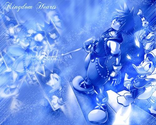 Square Enix, Kingdom Hearts, Donald Duck, Axel, Kairi Wallpaper