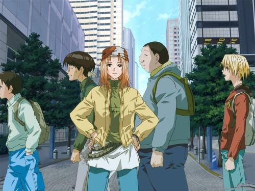 Genco, Genshiken, Saki Kasukabe, Harunobu Madarame, Mitsunori Kugayama Wallpaper