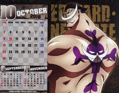 Eiichiro Oda, Toei Animation, One Piece, One Piece Body Calendar 2016, Edward Newgate