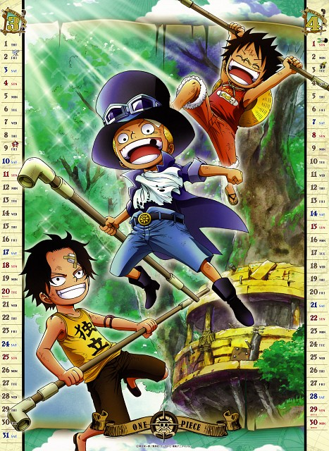 Eiichiro Oda, Toei Animation, One Piece, One Piece 2012 Calendar, Monkey D. Luffy