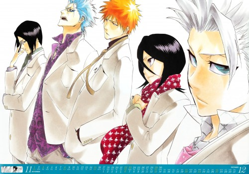 Kubo Tite, Bleach, Bleach 2009 Comic Calendar, Ichigo Kurosaki, Rukia Kuchiki