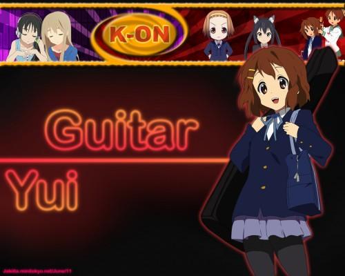 Kakifly, Kyoto Animation, K-On!, Ui Hirasawa, Ritsu Tainaka Wallpaper