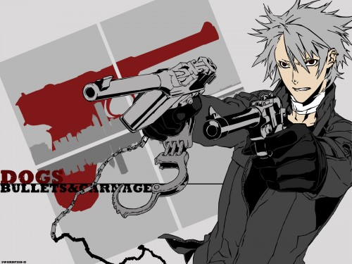 Miwa Shirow, Dogs: Bullets and Carnage, Haine Rammsteiner, Vector Art Wallpaper