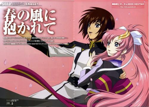 Sunrise (Studio), Mobile Suit Gundam SEED Destiny, Lacus Clyne, Kira Yamato, Magazine Page