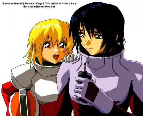Sunrise (Studio), Mobile Suit Gundam SEED, Cagalli Yula Athha, Athrun Zala, Vector Art