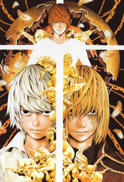 Takeshi Obata, Death Note, Blanc et Noir, Light Yagami, Mello