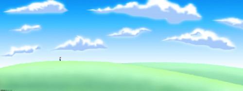 Нарисованное небо ребёнком