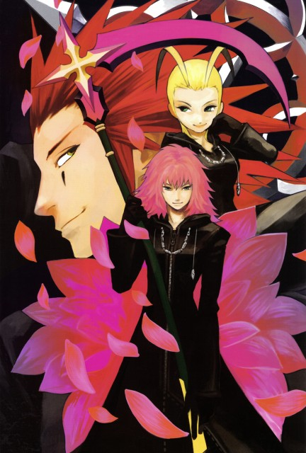Shiro Amano, Art Works Kingdom Hearts, Kingdom Hearts, Axel, Marluxia
